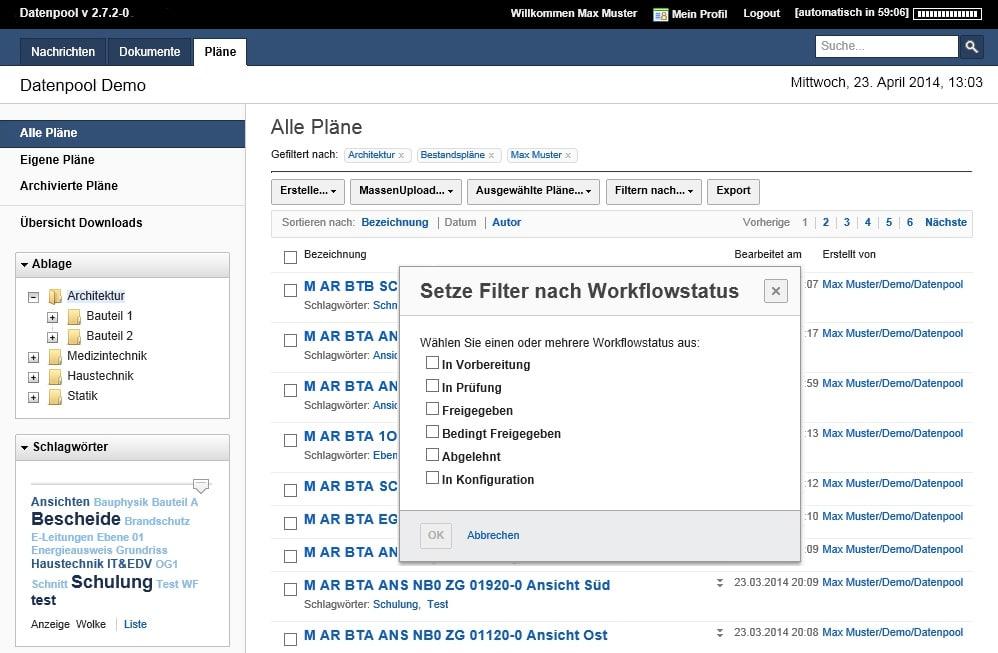 Innovative Suchfunktionen und zahlreiche Filtermöglichkeiten vereinfachen die Suche wesentlich.